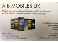 iPhone/Samsung Screen Repairs, Battery Replacement, Water Damage, Unlocking.