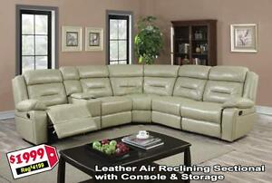 Store Wide Super SALE  BRAND NEW Leather Recliner Sectional $1999