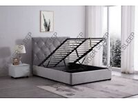 BRAND NEW BAKERSFIELD OTTOMAN STORAGE BED FRAME WITH MATTRESS - SAME DAY DELIVERY