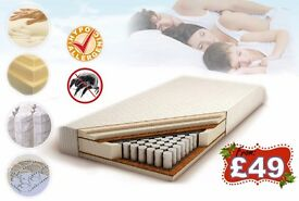 BRAND NEW MATTRESSES! SINGLE, DOUBLE, KING SIZE, EU SIZES, CHEAP, HIGH QUALITY!