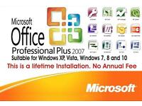 Microsoft Office Professional Plus 2007 on Usb or Cd (No Key Needed)