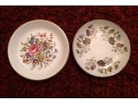 Set of 2 Miniature Plates