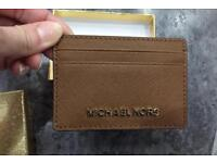 Genuine Micheal Kors Leather Card Holder - NEW