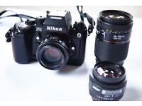 NIKON F4 CAMERA AND LENSES