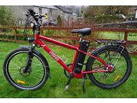 2015 Used Freego Hawk Crossbar Electric Bike 16ah. Up to 65 mile range