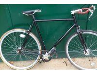 23 inch Large XL Single speed lightweight road bike free wheel /fixie fixgear flip flop hub wheels
