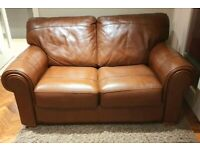 AS NEW superb quality 2 piece leather suite DELIVERY INCLUDED