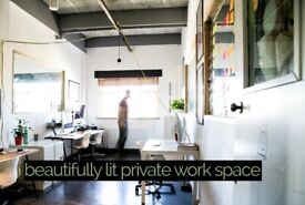 50% Off FIRST MONTH! PRIVATE OFFICE WITH KITCHEN | WAREHOUSE | COOL COMMUNITY | HACKNEY E9