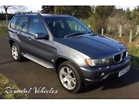 "NOW REDUCED! 12 MONTHS MOT! BMW X5 3.0 Sport 84k, History, full service history 19"" alloys LOVELY!"