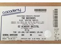 Breeders 02 Academy Bristol, 10th July 2018 - one ticket for sale