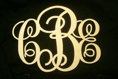 "18"" Wooden Vine Monogram Unfinished Letters Room Decor- USA 18x12"