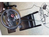 Logitec steering wheel for PS3 and PC - God condition with stand and pedals