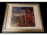 Classical Print Painting with Golden Frame