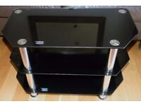Nice Corner Black Glass Television stand good condition