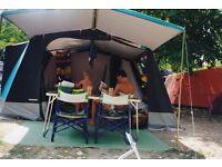 Large 6 Berth Trigano Canvas Framed Tent