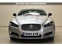 JAGUAR XF 2.2 D LUXURY 4d AUTO 200 BHP + TOP SPEC WITH ALL THE EXTRAS (silver) 2014