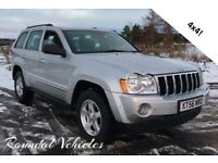 2007 Jeep Grand Cherokee 3.0CRD Limited spec 4x4 Gorgeous big 4x4 Hist and mot awesome in the snow !