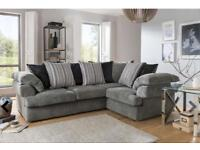 New Rico Grey corner sofa( Extra chair)**Free delivery**