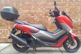 Yamaha NMAX 125 ABS (17 REG), Matt red with genuine Yamaha top and knuckle gu...