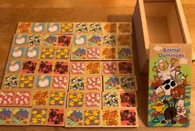 Children's Animal wooden Dominoes game from Early Learning Centre