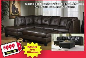 Store Wide Super SALE!!! Brand New Sectional With Matching Ottoman only For $999