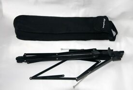 Folding Black Music Stand With Bag