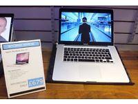 "Macbook Pro 15"" i7 2.66GHz 500GB 8GB Silver Apple laptop computer OSX Windows 10 2016 Ayrshire"