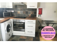 ***STUDENTS 2018-2019*** ALL INCLUSIVE £135 PPPW - SUPER MODERN 2 BED FLAT - PENT HOUSE - LE1