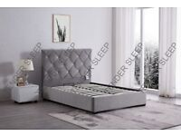 BEST SELLING BRAND --BAKERSFIELD STORAGE BED -DOUBLE SIZE UPHOLSTERED BED FRAME VELVET FABRIC