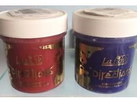 Red and purple hair dyes