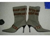 Ladies size 5 khaki boots