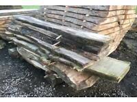 Scottish hardwood slabs for sale mixed species live waney edge table desk
