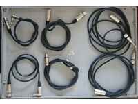 Assortment of Pro Audio Cables.