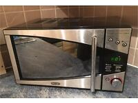 Delonghi Silver stainless steel mirror style microwave. RRP £199. Cheap bargain at £49
