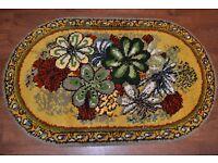 Super Retro Kitsch Vintage Floral Chunky Oval Rug 5ft x 3ft *Grans Funky Rug*