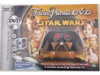 STAR WARS Trivial Pursuit DVD Game, Saga Edition. Complete & Part New
