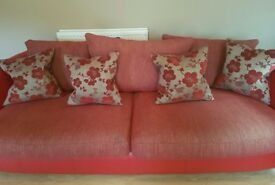 Will consider offers - 3 seater sofa and cuddle swivel chair