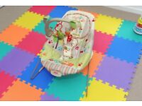 'Woodsy Friends' baby bouncer chair - very good condition
