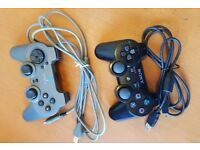 PS3 Slim 120G + Controllers + Cables + 8 Games.
