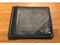 Prada men's wallet navy