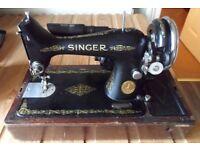 Working vintage Singer sewing machine.