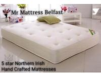 ✅ Northern Irish Hand crafted 5 Star mattresses ~ 1000 pocket orthopaedic memory topped