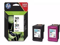 HP 301 Original Ink Cartridge - Black/Tri-Colour - Pack of 2