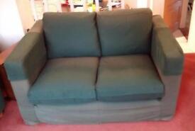2 seater sofa - dark green