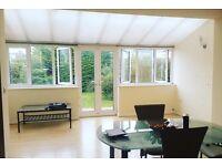 3 double bedroom, 2 reception room house with garden, <10mins walk Met line station (all bills inc.)