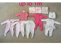 Baby girl clothing bundle up to 1m