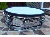 "Hart Professional Series 13"" Hammered Chrome Snare Drum"