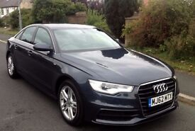 AUDI A6 2.0 TDI S LINE DARK BLUE 52,000 miles LOTS of extras CAT-D (2012)