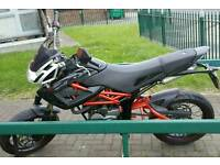 2008 Megelli 125M Learner Legal Supermoto Motorcycle - Only 8600 Miles!