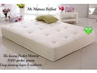 💚💚💚 POCKET MEMORY LUXURY HOTEL FEEL MATTRESSES- ORDER TODAY FOR DELIVERY TODAY 👍